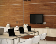 Wooden-Cladding-In-office